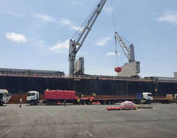 Transglobal Logistics handling rice and lpg vessels at the Tema port